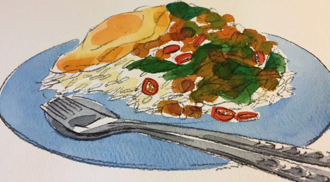 塗り絵とタイ料理のコラボレッスン